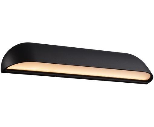 LED buitenwandlamp Front, Zwart. Diffuser: wit, melkachtig-transparant