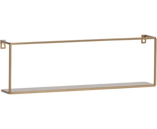 Półka ścienna metal Meert, Metal powlekany, Odcienie mosiądzu, S 50 x W 16 cm