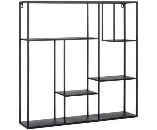 Półka ścienna z metalu Regular, Metal lakierowany, Czarny, S 70 x W 70 cm