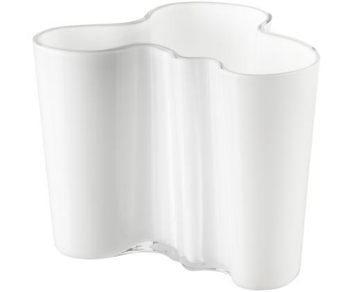 Vaso di design Alvar Aalto, Vetro, Bianco, Alt. 10 cm
