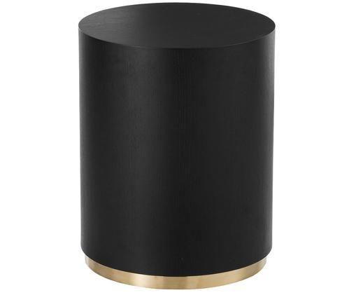Mesa auxiliar Clarice, Negro, dorado