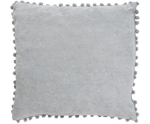 Kissenhülle Aubero, 85% Polyester, 15% Nylon, Grau, 45 x 45 cm