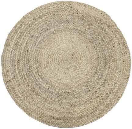 Runder Jute-Teppich Sharmila, handgefertigt