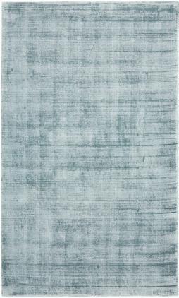 Handgewebter Viskoseteppich Jane in Eisblau