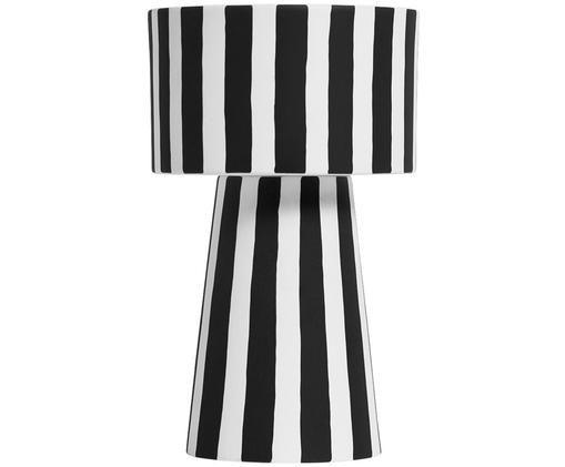 Porta vaso fatto a mano Toppu, Ceramica, Bianco, nero, Ø 15 x Alt. 24 cm