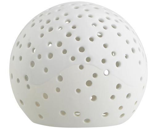 Teelichthalter Nobili, Porzellan, Weiß, glänzend, Ø 12 x H 11 cm