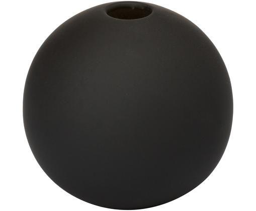 Vaas Ball, Keramiek, Zwart, Ø 8 x H 8 cm