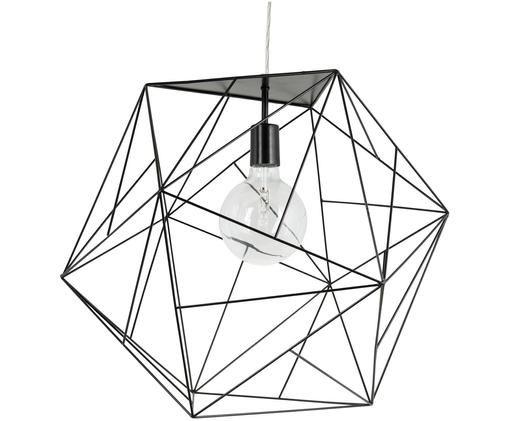 Große Pendelleuchte Cape Town, Lampenschirm: Edelstahl, beschichtet, Schwarz, Ø 51 x H 45 cm
