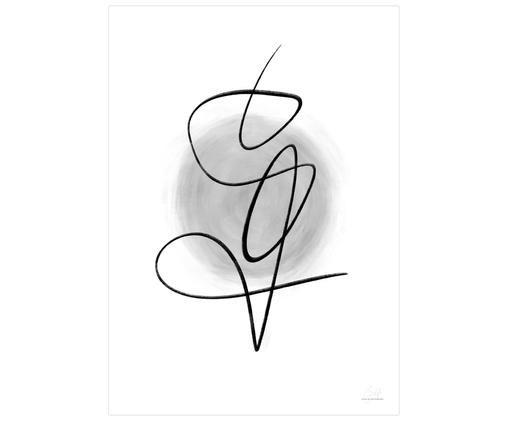Poster Thought, Bianco, nero, grigio