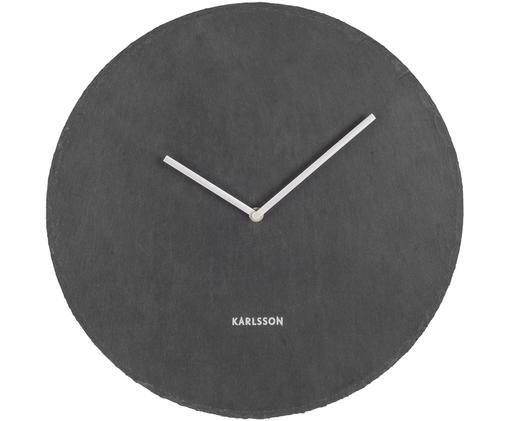 Orologio da parete Slate, Quadrante: grigio scuro Puntatore: argento