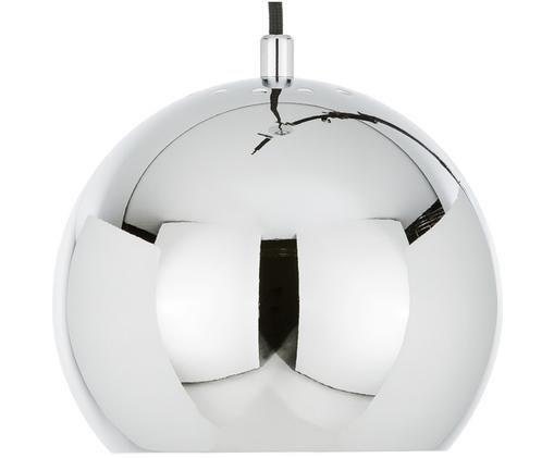 Lampada a sospensione in argento Ball, Metallo cromato, Metallo cromato, Ø 18 x Alt. 16 cm
