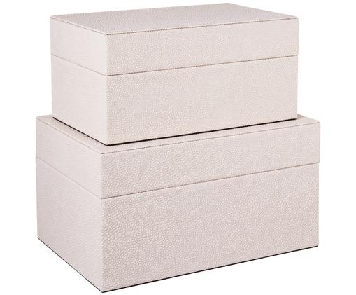 Aufbewahrungsboxen-Set Megan, 2-tlg., Beige