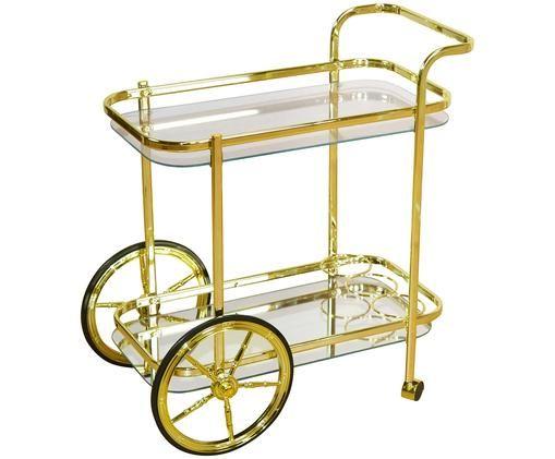 Goldener Servierwagen Ella, Goldfarben