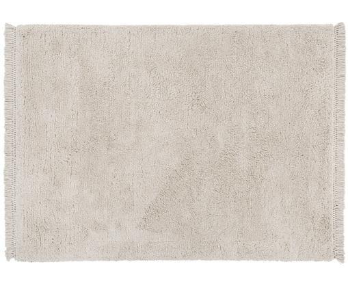 Flauschiger Hochflor-Teppich Dreamy, handgetuftet, Creme