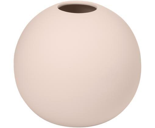 Jarrón artesanal Ball, Cerámica, Rosa, Ø 10 x Al 10 cm