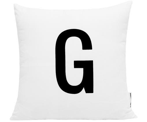 Poszewka na poduszkę Alphabet (warianty od A do Z), Poliester, Czarny, biały, Poszewka na poduszkę G