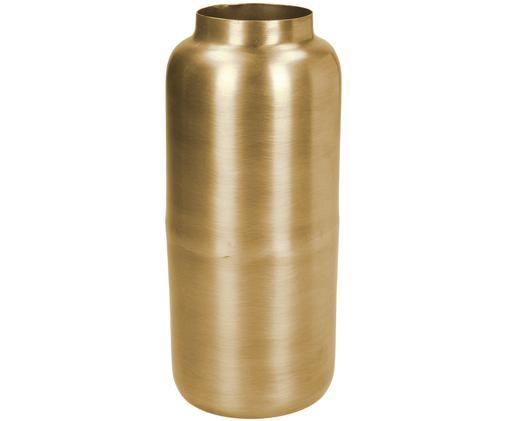 Deko-Vase Simply aus Metall, Metall, beschichtet und nicht wasserdicht, Messingfarben, Ø 8 x H 19 cm