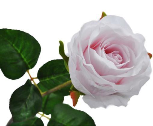 Rosa artificiale Rosalie, Gambo: metallo, Rosa, Lung. 49 cm
