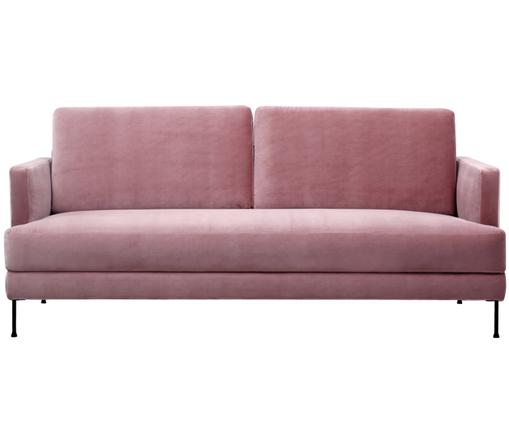Canapé en velours Fluente (3places), Rose