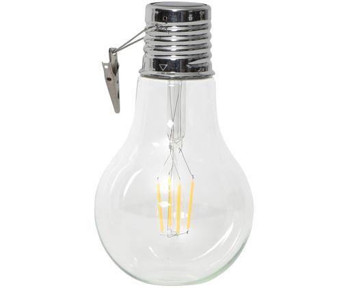 Solarna lampa dekoracyjna LED Fille, Szkło, metal, Transparentny, odcienie srebrnego, Ø 10 x W 18 cm