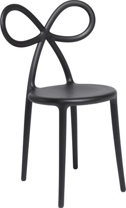 Kunststoff-Stuhl Ribbon in Schwarz