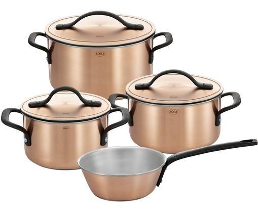 Ensemble de casseroles en cuivre mat Chalet, 7élém.