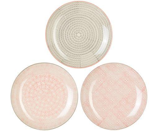 Set piatti da colazione Cécile, 3 pz., Gres, Multicolore, Ø 25 cm