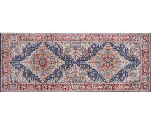 Chodnik Sylla, Poliester, Niebieski, czerwony, S 80 x D 200 cm