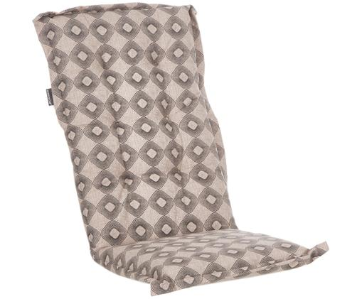 Hochlehner-Stuhlauflage Rondo, Bezug: 50% Baumwolle, 50% Polyes, Taupe, Schwarz, 50 x 123 cm