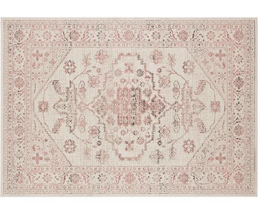In- & outdoor vloerkleed Navarino rood in vintage look, Polypropyleen, Crèmekleurig, roze, B 120 x L 170 cm (maat S)