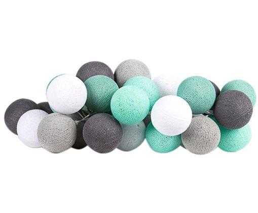 Guirlande lumineuse à LED Colorain, Vert menthe, tons gris, blanc