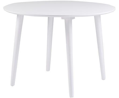 Tavolo da pranzo in legno massiccio Lotta, Bianco
