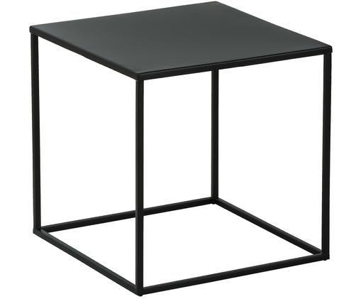 Stolik pomocniczy z metalu Stina, Metal malowany proszkowo, Czarny, matowy, S 45 x W 45 cm
