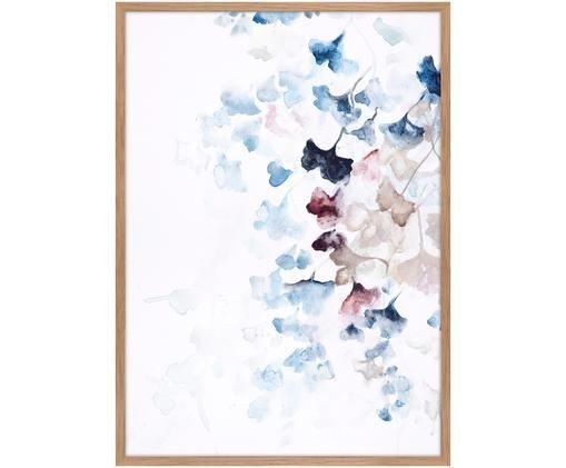 Stampa su tela incorniciata Purple Fall, Immagine: stampa digitale su lino, Cornice: Pannello di fibra ad alta, Multicolore, Larg. 50 x Alt. 70 cm