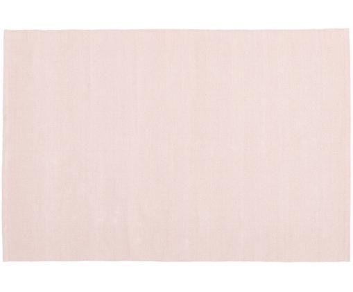 Einfarbiger Baumwollteppich Agneta, handgewebt, Baumwolle, Rosa, B 200 x L 300 cm (Größe L)
