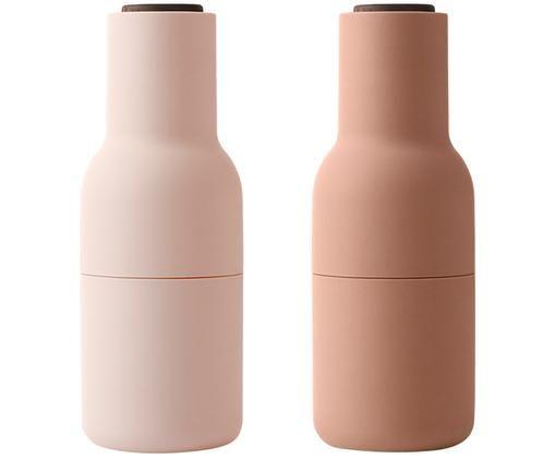 Komplet młynków Bottle Grinder, 2elem., Odcienie różowego