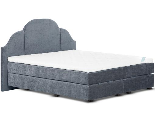 Łóżko kontynentalne z aksamitnym obiciem premium  Gloria, Ciemnyszary