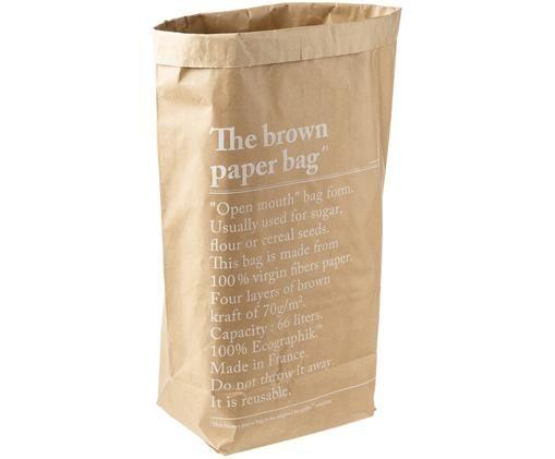 Bolsa de almacenaje Le sac en kraft brun