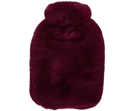 Borsa dell'acqua calda in pelliccia sintetica Mette, Rosso scuro