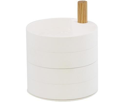 Schmuckbox Tosca, Stange: Holz, Weiß, Braun, 10 x 12 cm
