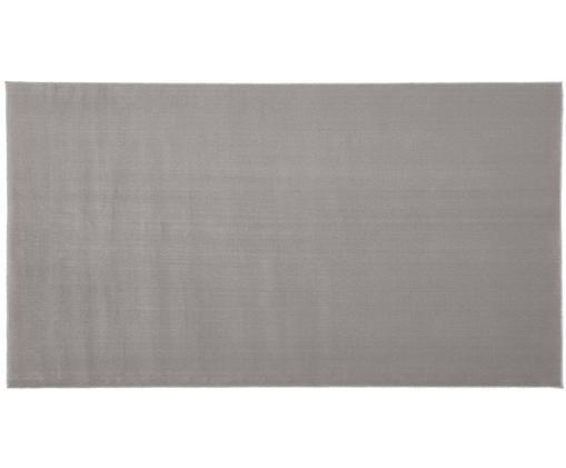 Alfombra de lana Ida, Parte superior: lana, Reverso: 60%yute, 40%poliéster, Gris, An 60 x L 110 cm (Tamaño XS)