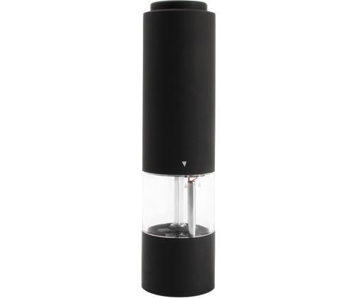 Solniczka i pieprzniczka  Lecta, Akryl, tworzywo sztuczne (ABS), guma, ceramika, Czarny, transparentny, odcienie srebrnego, Ø 5 x W 19 cm
