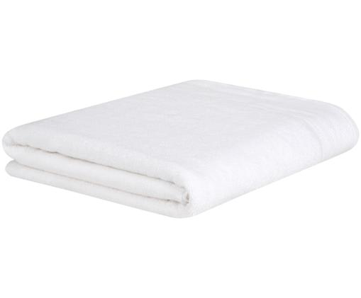 Asciugamano con bordo decorativo Premium, Bianco, Telo bagno