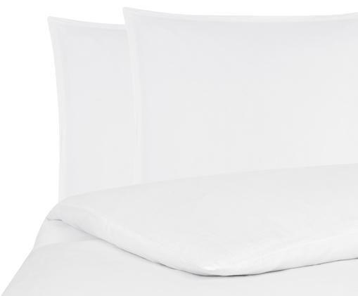 Pościel z lnu Breeze, 52% len, 48% bawełna Produkt posiada efekt sprania i jest miękki w dotyku, Biały, 200 x 200 cm
