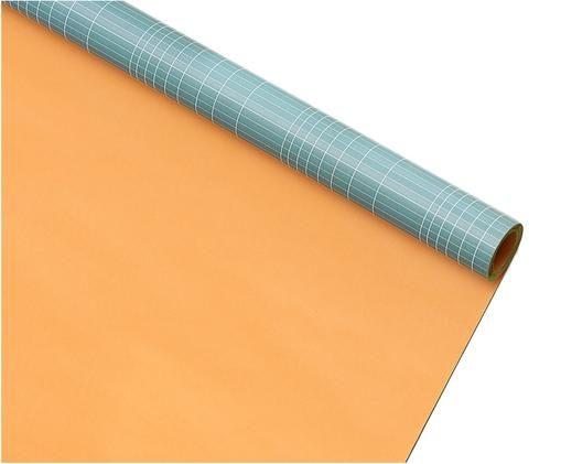 Geschenkpapier Logarithm, Papier, Oranje, blauw, wit, 70 x 500 cm