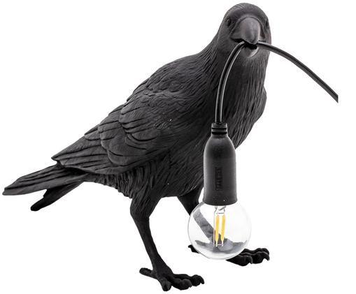 Design-LED Tischleuchte Bird, Schwarz, 33 x 12 cm