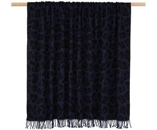 Pled Bory, 60%bawełna, 40%akryl, Niebieski, S 150 x D 200