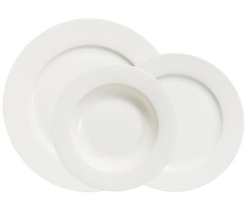 Service de vaisselle Delight Classic, 12élém., Blanc ivoire
