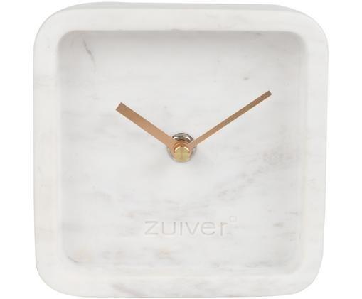 Tavolo in marmo Luxury, Quadrante: bianco marmorizzato Puntatore: dorato