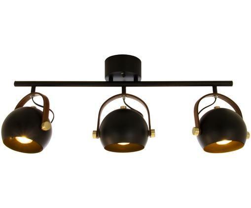 Deckenleuchte Bow im Industrial-Style, Schwarz, 76 x 28 cm
